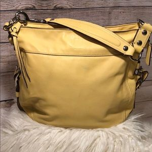 Coach Canary Yellow Leather Hobo Bag